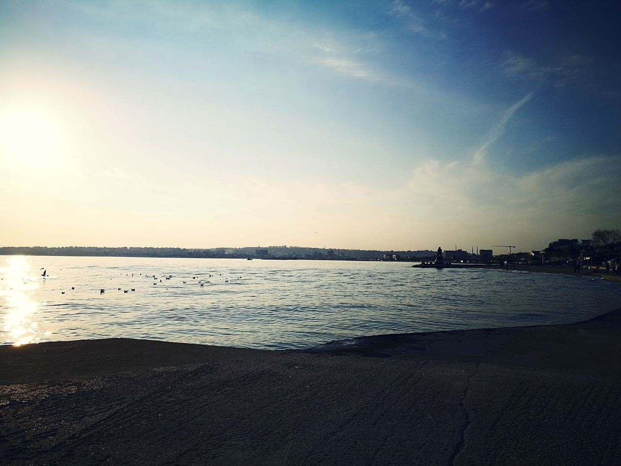 Water Sunset Sky Beach Nature Outdoors Istanbul Turkey BUYUKCEKMECE Horizon Over Water Sea Reflection Tranquility Tranquil Scene Beauty In Nature No People Day