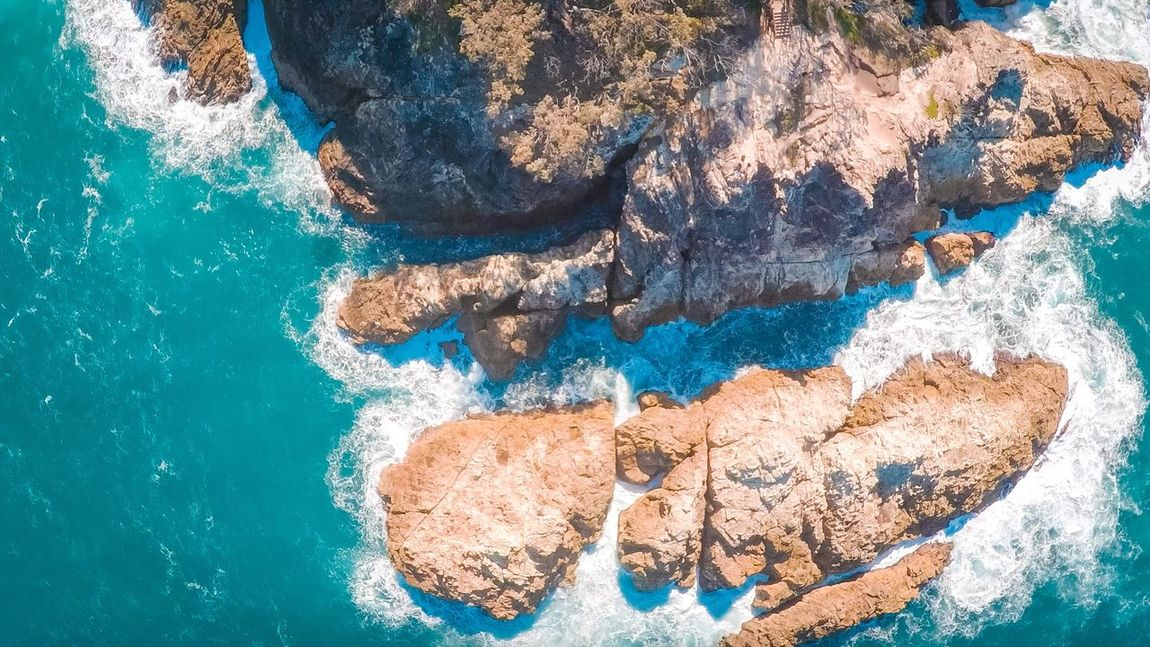 Birds eye view Rock - Object Water Nature Blue Day Sea Outdoors No People Beauty In Nature Close-up Landscape Adventure Australian Landscape Australia Brisbane Queensland South East Qld Nature Stradbroke Island EyeEmNewHere Perspectives On Nature