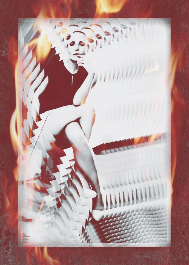 Don't Play With Fire Digital Art Rebelpunk Instagram Daddysrebelpunk Feisty Selfportrait Fire Creative Photography Portrait Of A Woman Feminine