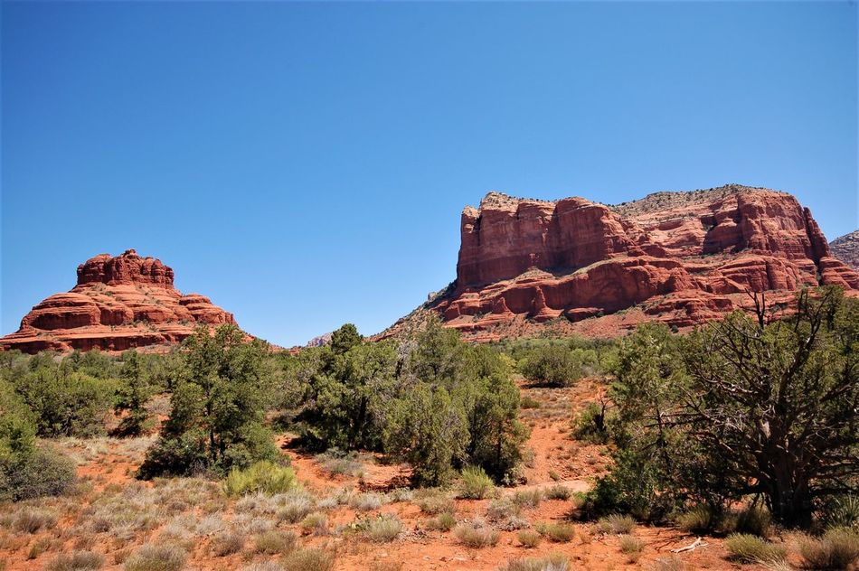 Beauty In Nature Blue Clear Sky Day Desert Eye4photography  Geology Indians  Landscape Mountain Nature No People Outdoors Rock Rock - Object Rock Formation Scenics Tourism Travel Destinations Vacations