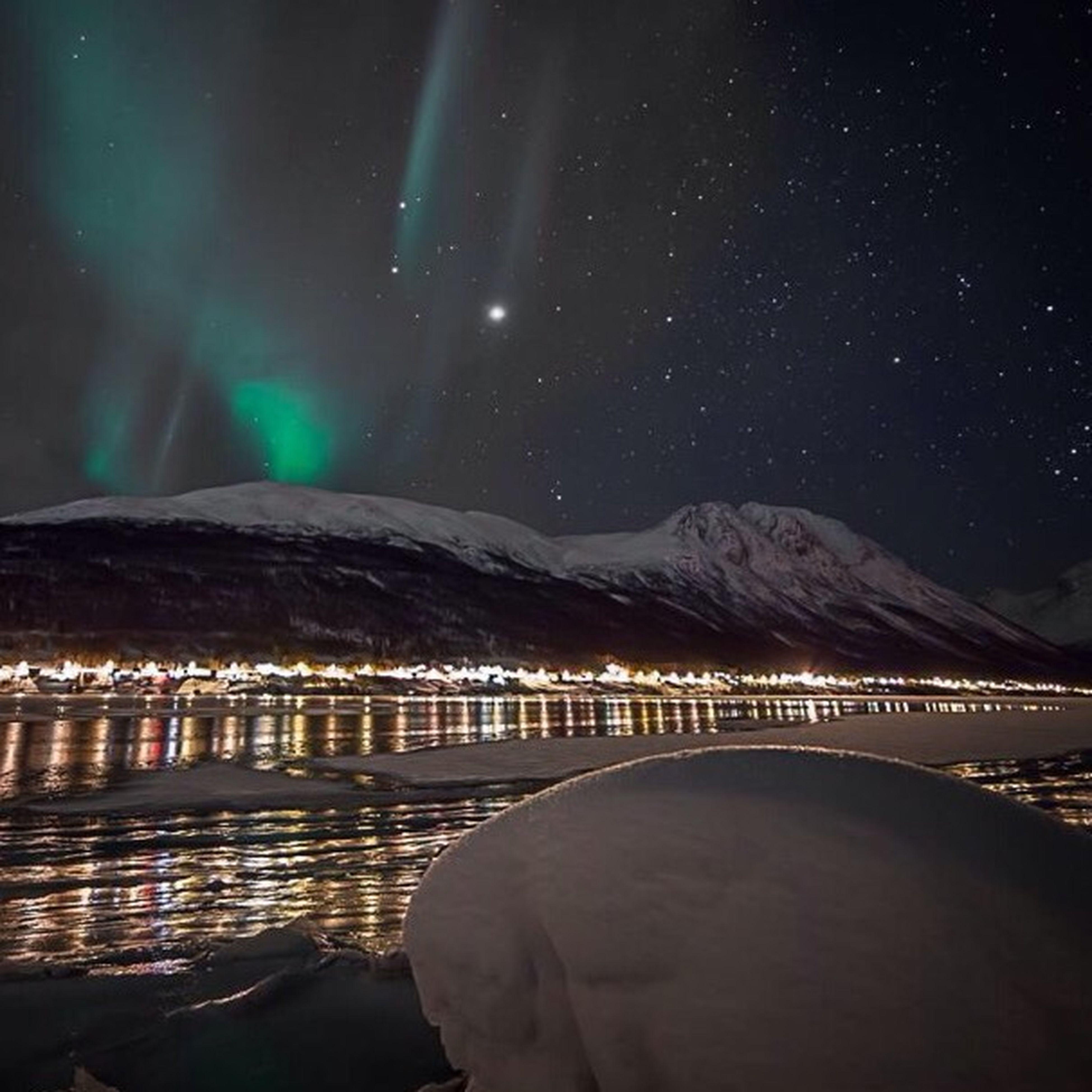 My view in the cold dark wintertime. Tromsø Aurora Borealis Ramfjordbotn Visit Norway