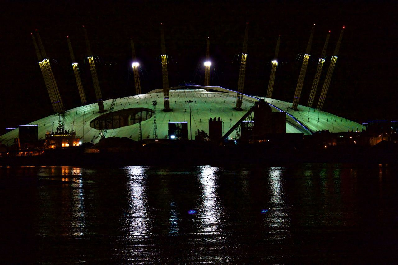 Arts Culture And Entertainment Illuminated Night No People O2 Arena Outdoors Sky Water