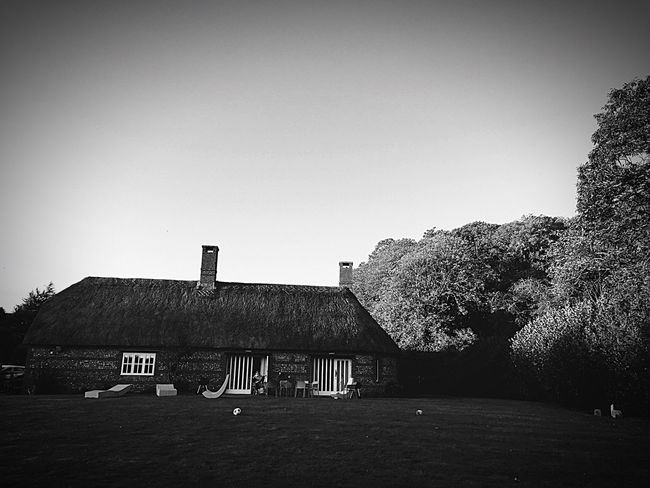Built Structure House Architecture Building Exterior Clear Sky No People Day Nature Tree Outdoors Sky Monochrome Photography Architecture