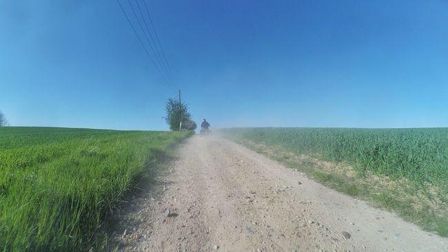 Taking Photos Enjoying Life Dusty Road Dirty Road Quads Dust In The Wind Clear Sky Quadtour Quad Biking