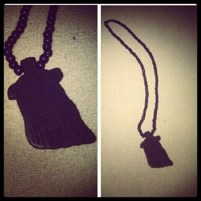 Gift from @naranarusha <3 Purple Gift Jesus Woodbeads wood rap hiphop