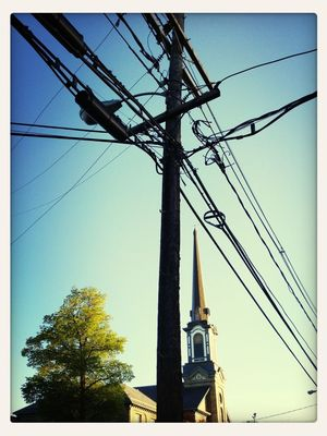 Power Lines at Sussex County Courthouse by Robert Yaskovic