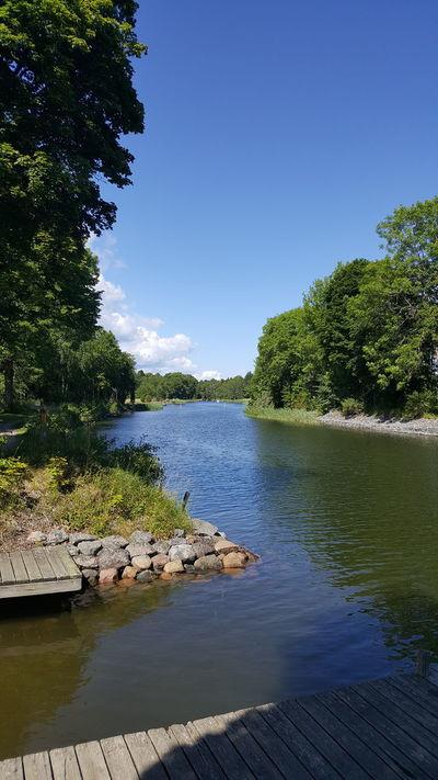 Stora Bagghusvägen Väddö Väddö Kanal Water Nature