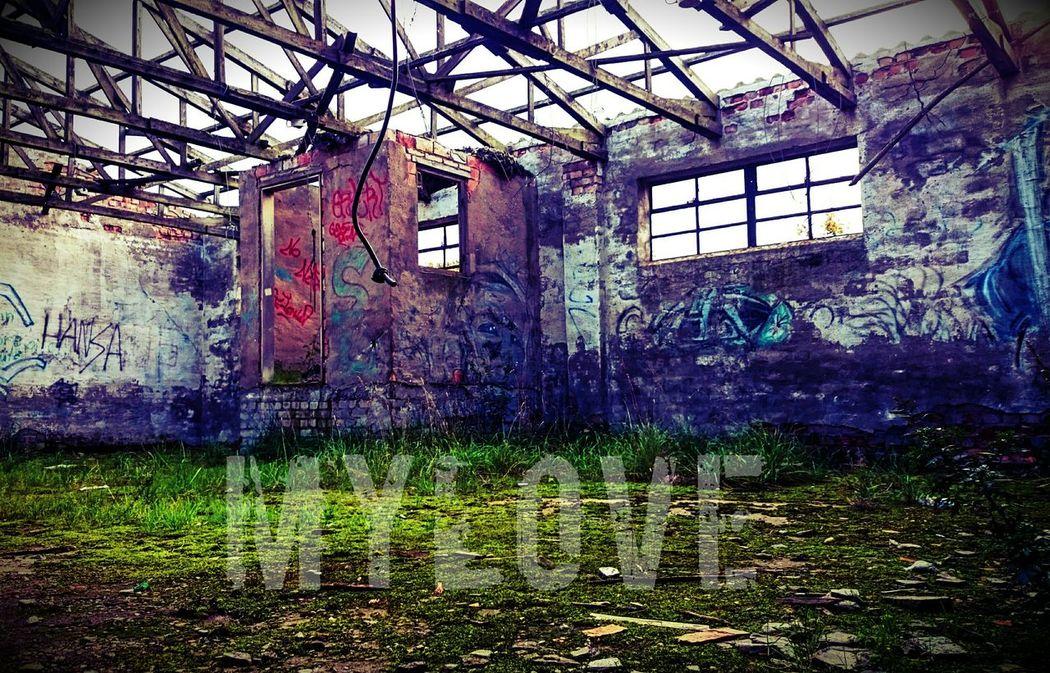 Gebaeude Alt Grafiti Art Ruine