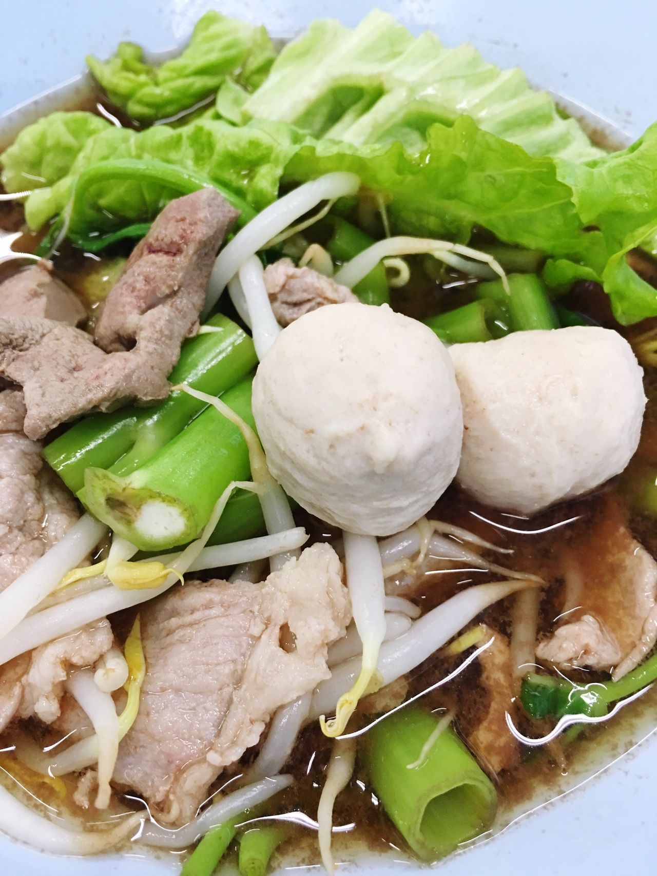 Pork ball noodles in thai style Pork Pork Ball Thai Noodles Morning Glory Noodles Food Yummy Hungry Eyeem Noodles Eyeem Food  Eyeem Thai Food Best Shot Zoom Ready-to-eat Vegetable