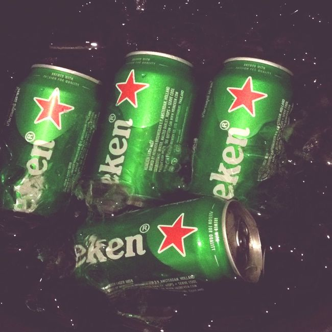 4 stars 5555 Drinking Heineken Heineken Bangkok Hello World