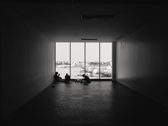 Architecture Built Structure Day Friendship Indoors  Leisure Activity Men One Person People Real People Silhouette Water Window Women