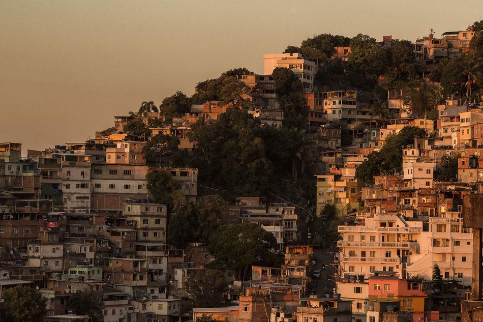 Sunrise at Vidigal favela Architecture City Cityscape Community Day Favela No People Outdoors Rio De Janeiro Sky Sunrise