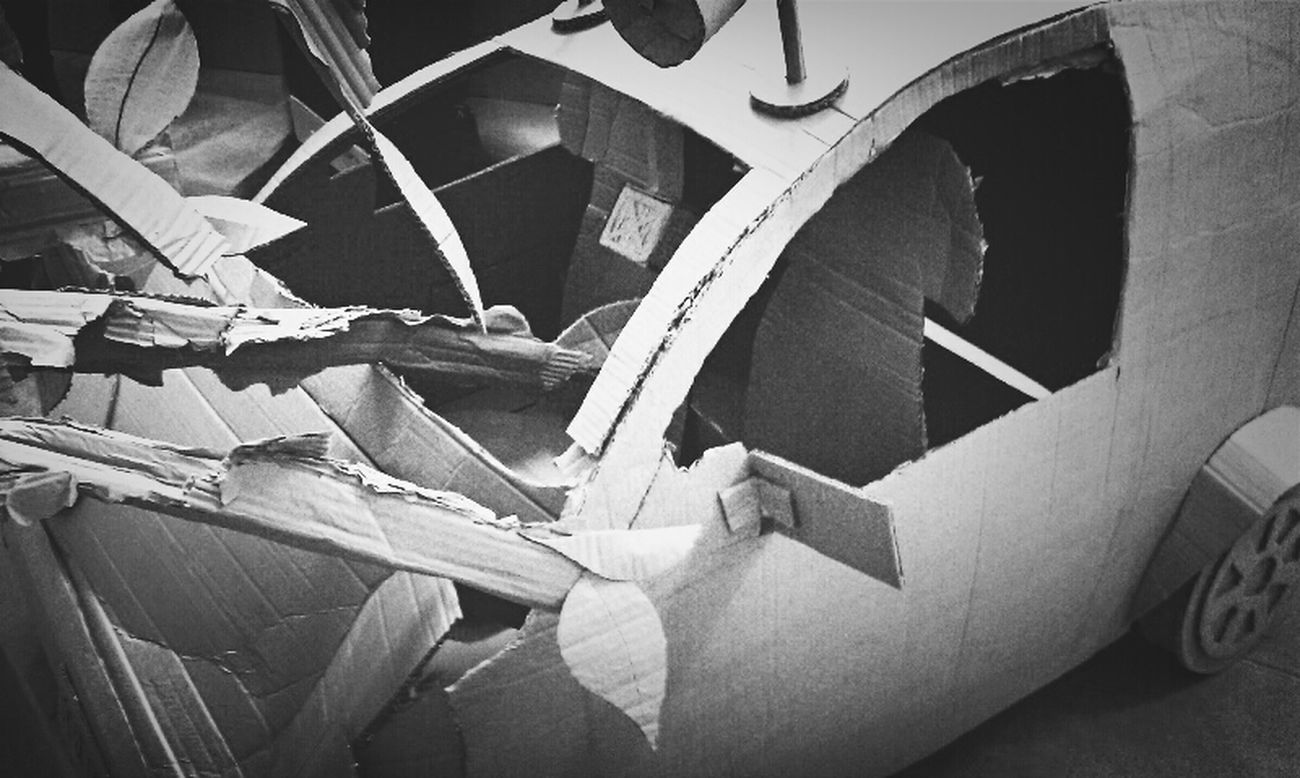 Art Car Crash Installation Cardboard