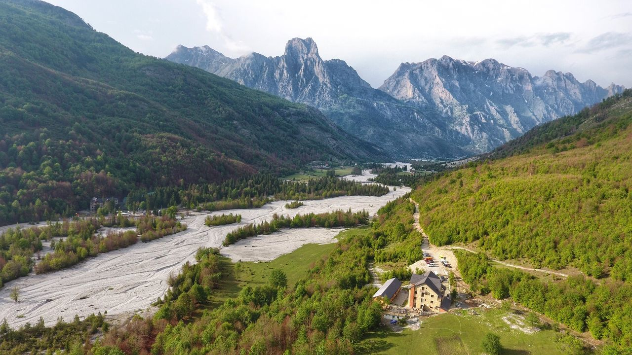 Albania Dronephotography Mountain Landscape Scenics Mountain Range Nature Beauty In Nature Outdoors Hiking High Angle View Green Color Panoramic Tranquility Mountain Peak Lake Travel Destinations No People Adventure Day Summer Sky