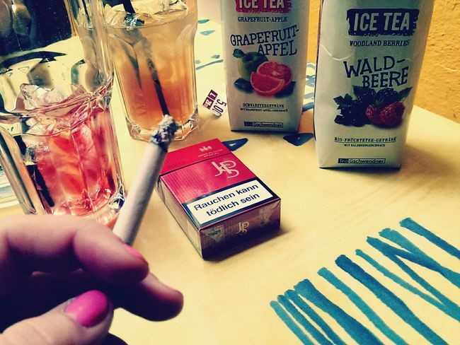 Coffee And Cigarettes Jps Smoking And Chilling Ice Tea