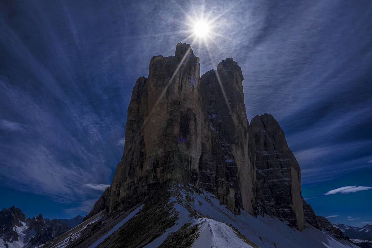 Dreizinnen Outdoors Sky Blue Nature No People Beauty In Nature Southtyrol  Landscape Tranquility Alto Adige Mountains Mountains And Sky Mountainview Mountainscape Trecimedilavaredo Sun