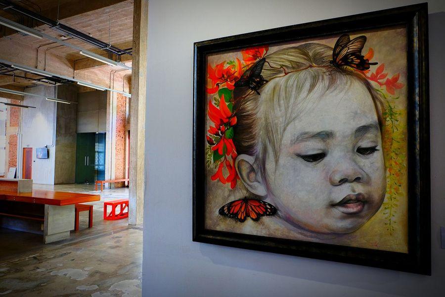 "Butterfly with Flowers/Artist: Krisana Litaisong ผีเสื้อกับดอกไม้/ศิลปิน: กฤษณะ ลิไทสง@Ratchadamnoen Contemporary Art Center นิทรรศการ ""7 ปี ครุศิลปะ บันทึกบนเส้นทางศิลป์ Painted Image Art, Drawing, Creativity Arts Culture And Entertainment Artistic Expression Art Gallery"
