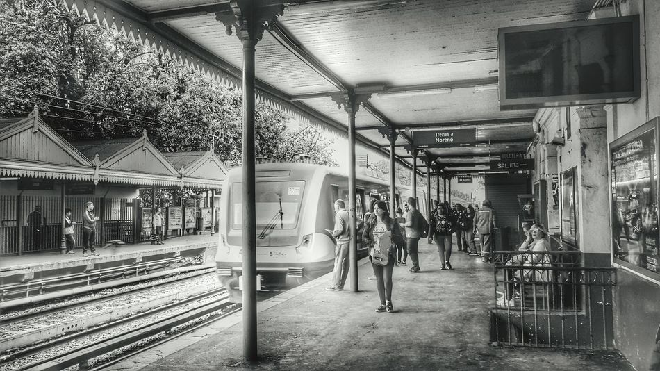 EyeEm Buenos Aires Blackandwhite People Buenos Aires, Argentina  Train Station Railway Train Old Train Station Train Station Platform Argentina Photography