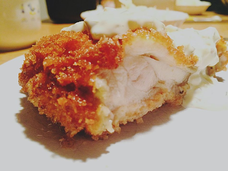 Enjoying A Meal Fried Chicken Chicken Katsu Dinner from Japan