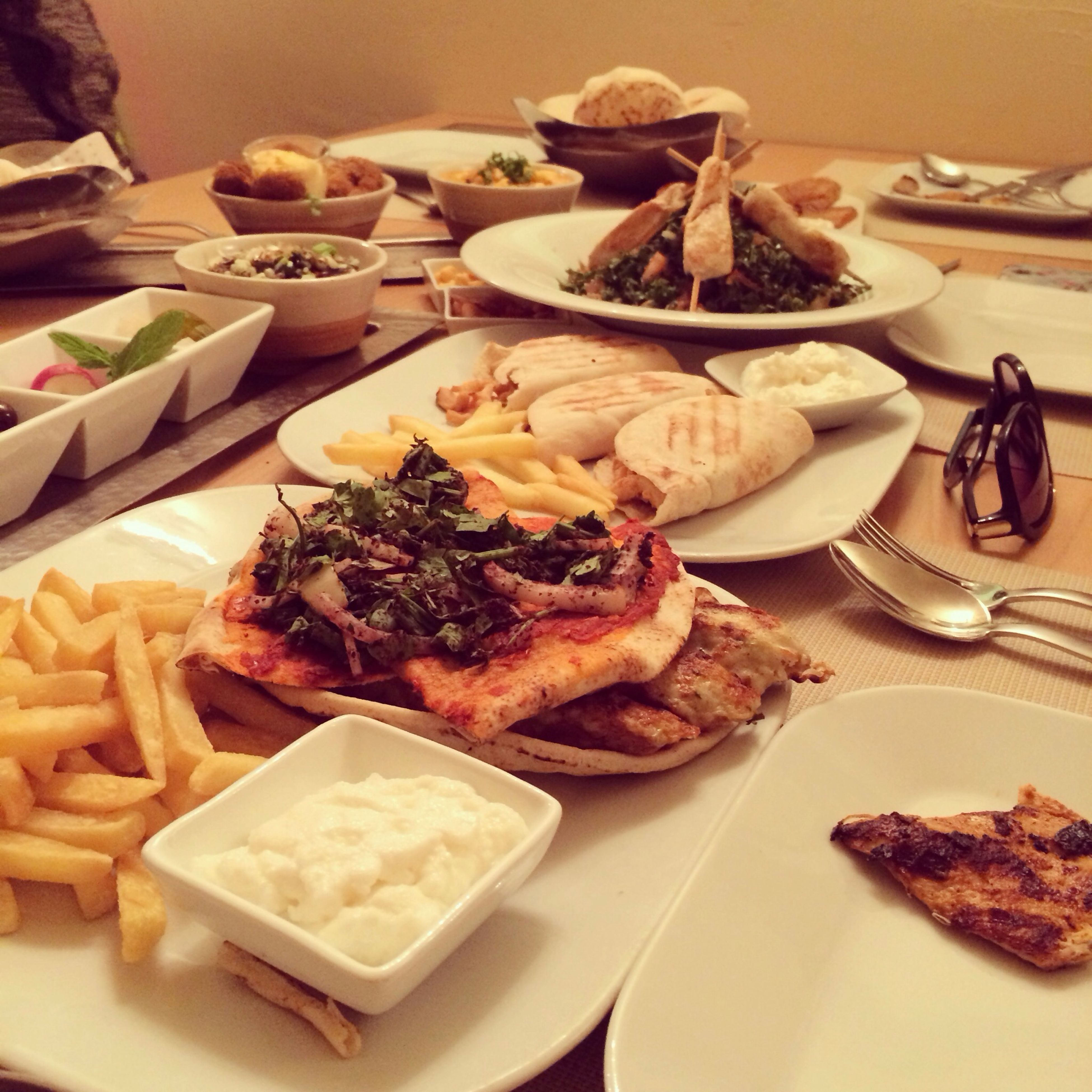 food and drink, food, indoors, ready-to-eat, plate, freshness, still life, table, indulgence, serving size, meal, unhealthy eating, close-up, bread, temptation, served, sweet food, snack, high angle view, meat