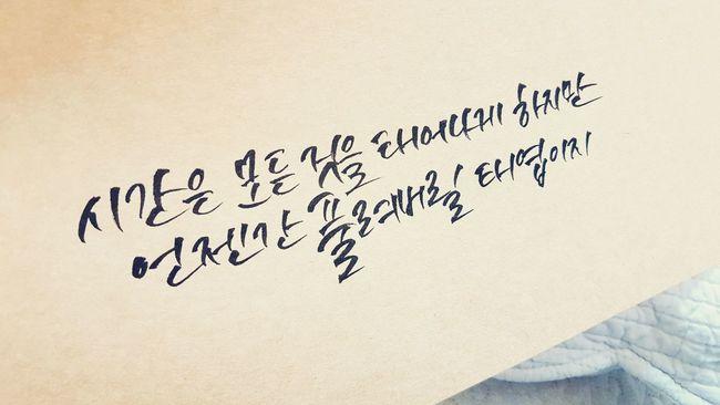 캘리그라피 Calligraphy 시간 김창완 노래 가사