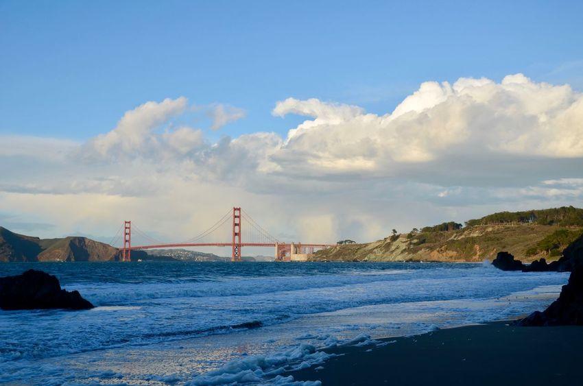 Architecture Bridge - Man Made Structure Built Structure Connection No People Outdoors San Francisco Bay Bridge Sea Sky Suspension Bridge Water