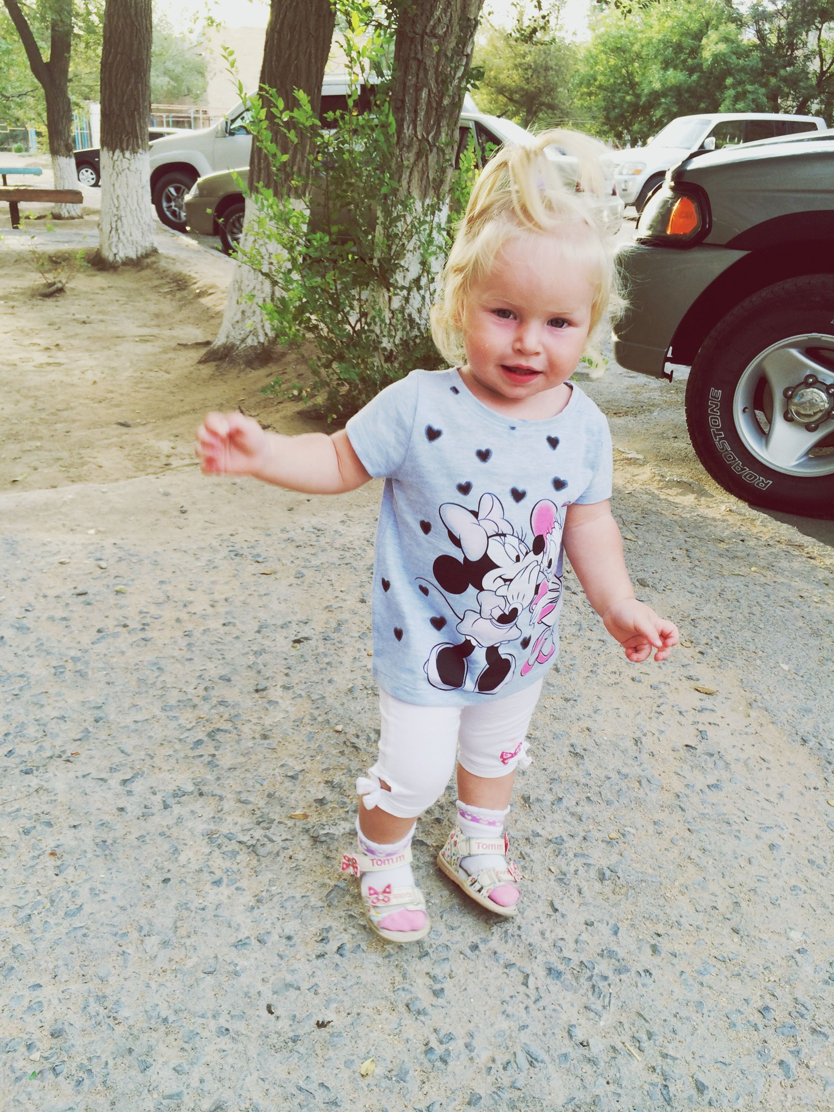 childhood, elementary age, innocence, cute, girls, person, boys, full length, casual clothing, lifestyles, leisure activity, street, playful, preschool age, happiness, toddler, park - man made space, playing