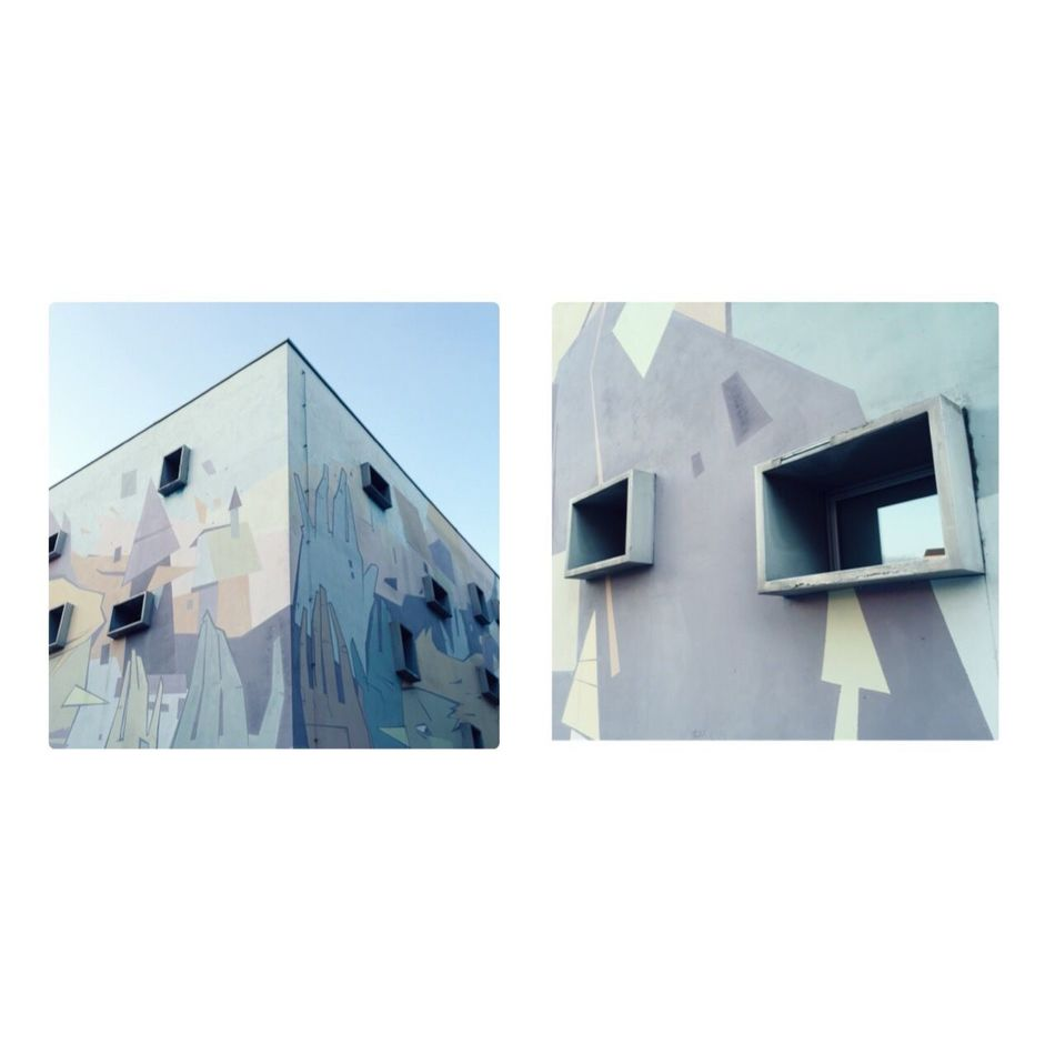 Cut And Paste Teatro Brecht, Perugia (Italy), by Claudia Ioan Architecture Building Exterior Built Structure No People Day Outdoors City Urban Cityscape Art Is Everywhere EyeEm Diversity The Secret Spaces VSCO Break The Mold Diptych Perugia Modern Art