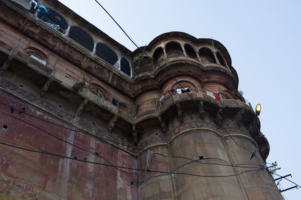 Building on the banks of the River Ganges, Varanasi Arches Architecture Building Building Exterior Built Structure Day Ghats  Ghats Of Varanasi Ghats On The Ganges Low Angle View No People Outdoors Varanasi Varanasi, India Ganges, Indian Lifestyle And Culture, Bathing In The Ganges,