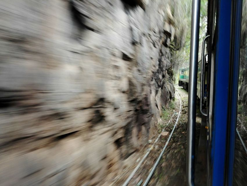 U just need the timing Toytrain Mountain Range Mountains Timing Wall On The Way Train Ride Photo From Train Dangerous Shot Blue Train