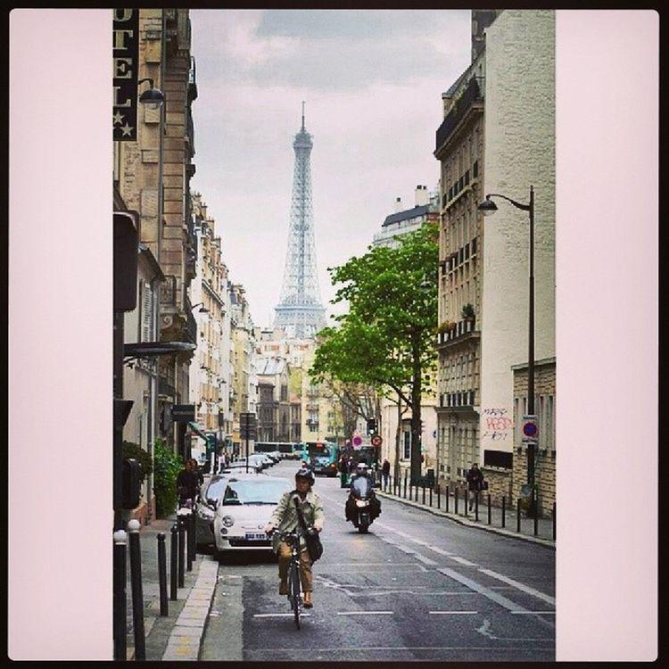 Eiffel Tower Paris Paris Ile_de_france france France tour_eiffel beautiful bestoftheday photooftheday photo pic picture picoftheday road street velo cyclo