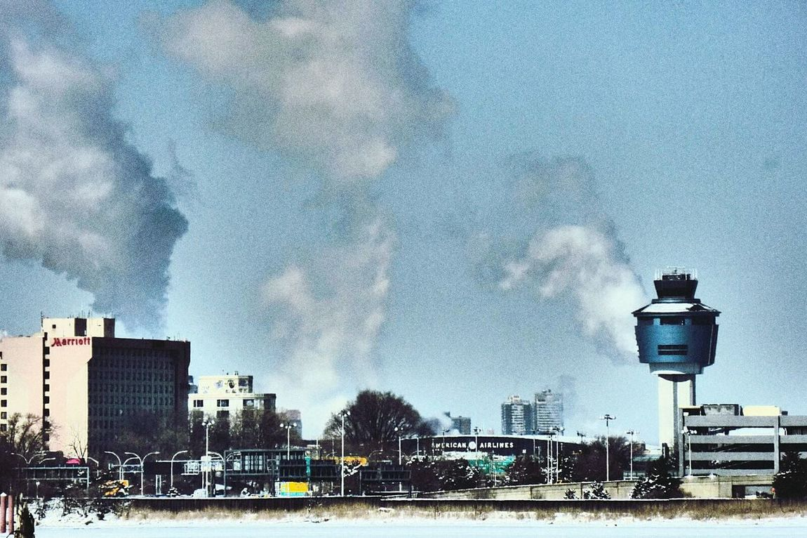 LaGuardia Airport tower and steam. Laguardia Controltower Steam NYC Photography