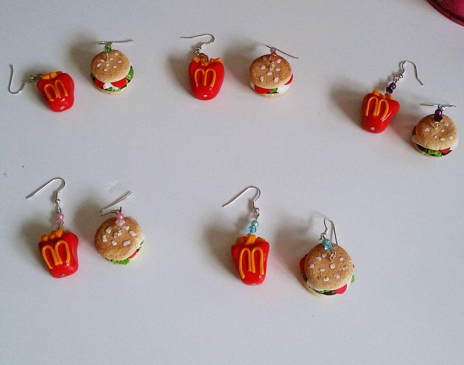 Handmade Earrings Handmade Jewellery Food Bijoux Fimo Fimolovers Polymerclay