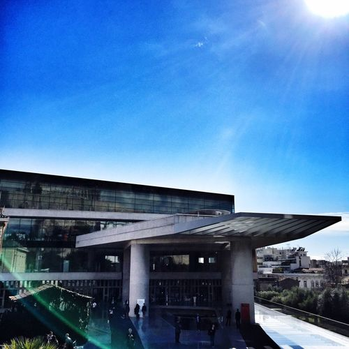 Athens Acropolis Museum Day Sun
