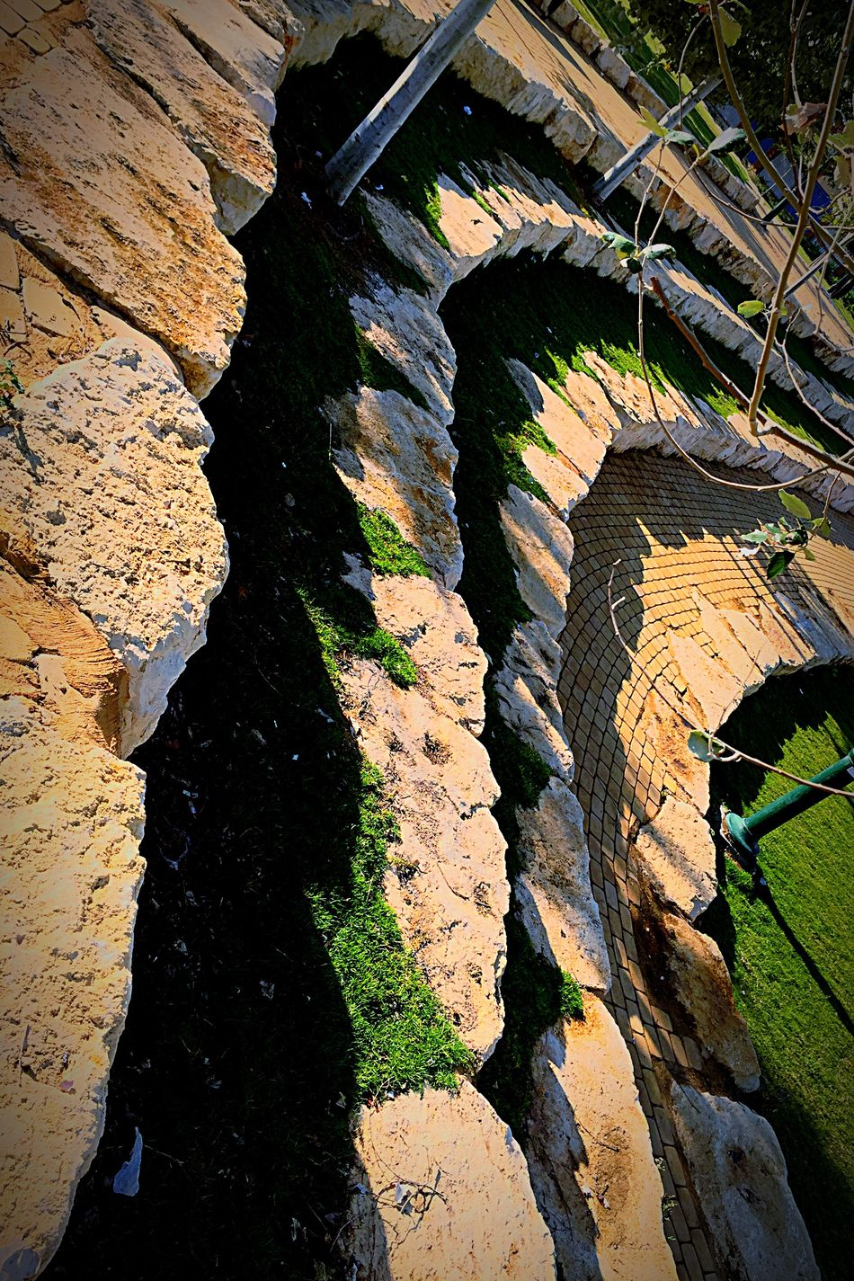 Nature Rock - Object Abstract Outdoors Backgrounds No People Day Stone Material Man Made Object Before Start Brick Walkway Park - Man Made Space Morning Walk Moment Lens On The Move Urbanphotography