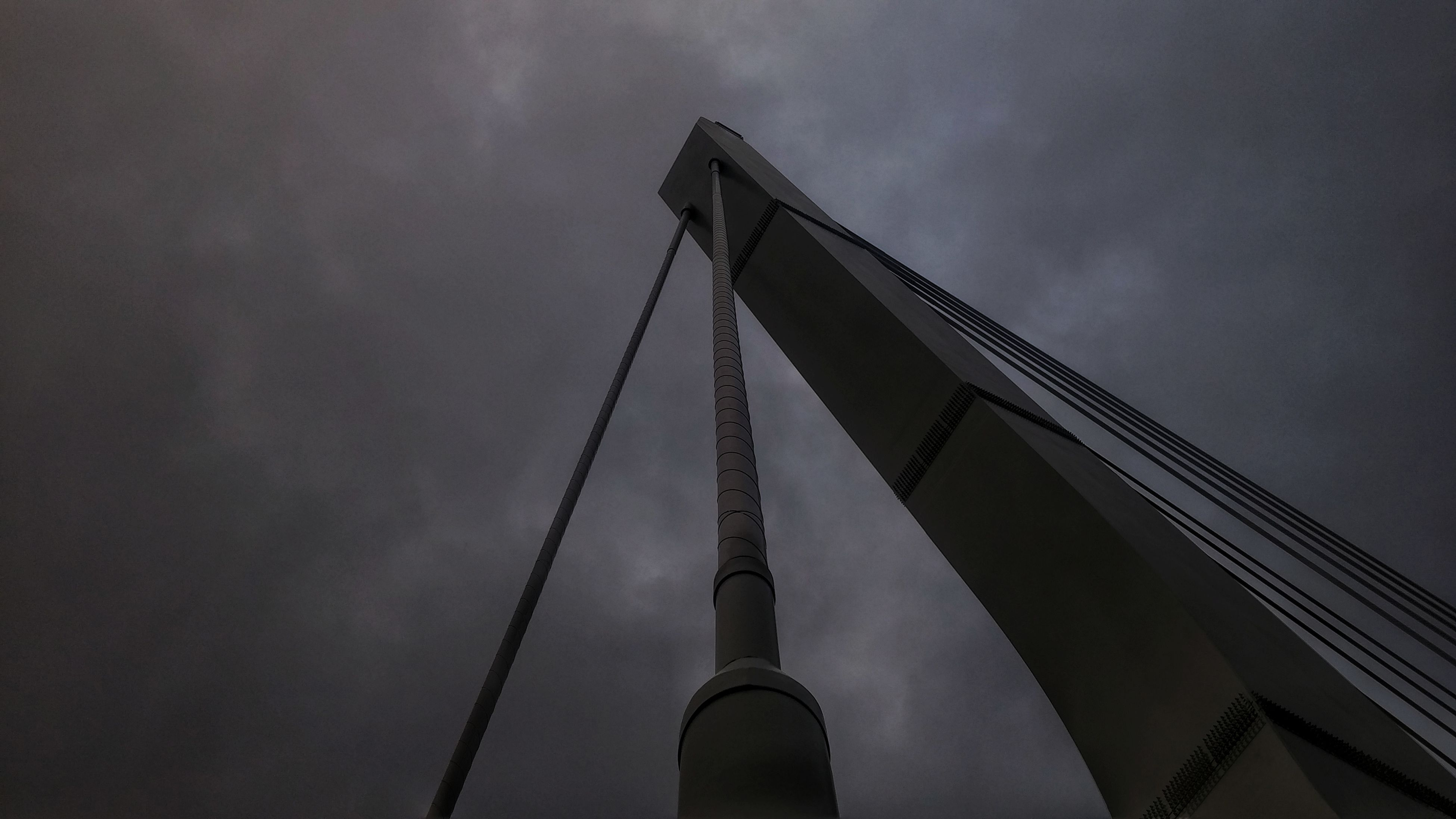 sky, low angle view, built structure, cloud - sky, outdoors, architecture, no people, day