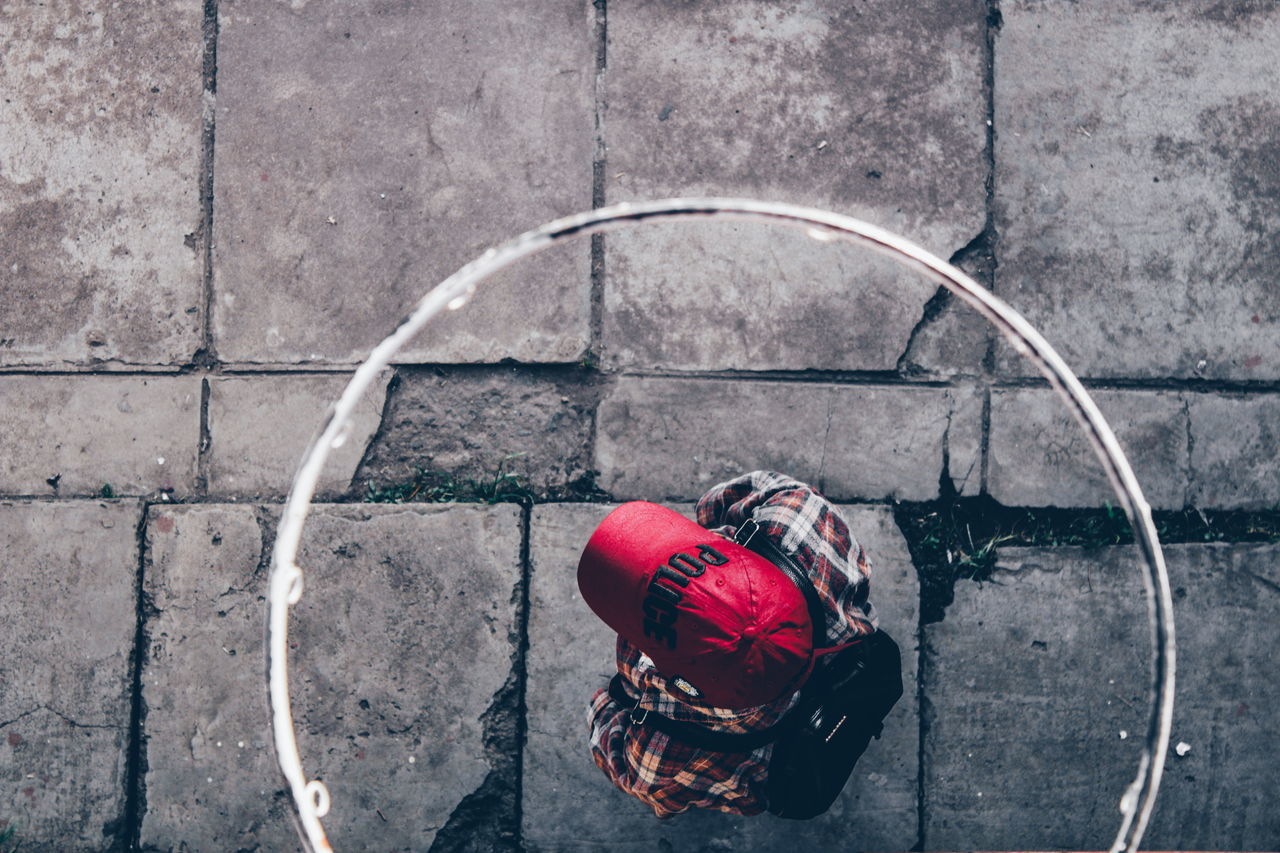 Outdoors Red Real People Basketball Hoop Basketball Court One Woman Only EyeEm Gallery Africa Streetphotography EyeEmNewHere Canon Camera Abstract Photography Leisure Activity Abstract Detail Lifestyles Day Teenagers