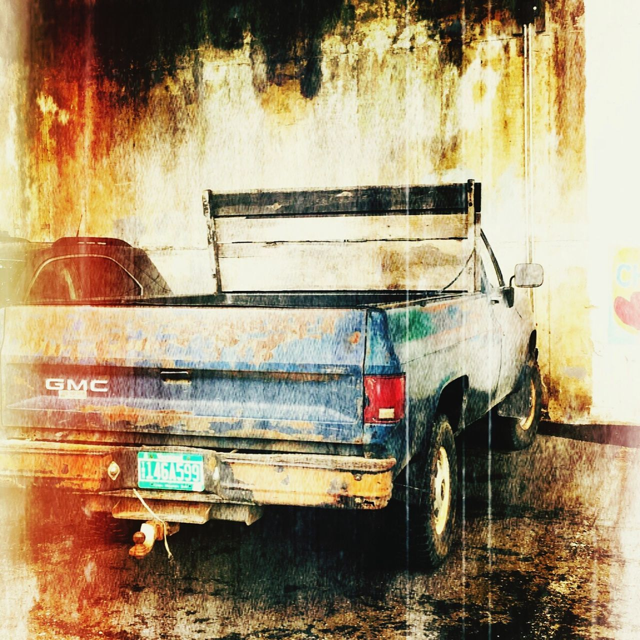 Vintage Truck Transportation Mode Of Transport Land Vehicle No People Wet Outdoors Day Tree Nature Vintage Cars Nostalgic  Trucks Abstract Photography Vintage Style Faded Beauty Worn And Loved  Classic Car Skill  Nostalgic  Vermontphotographer Weathered And Torn Usedlook Truckart Pickup Truck Abstract Art