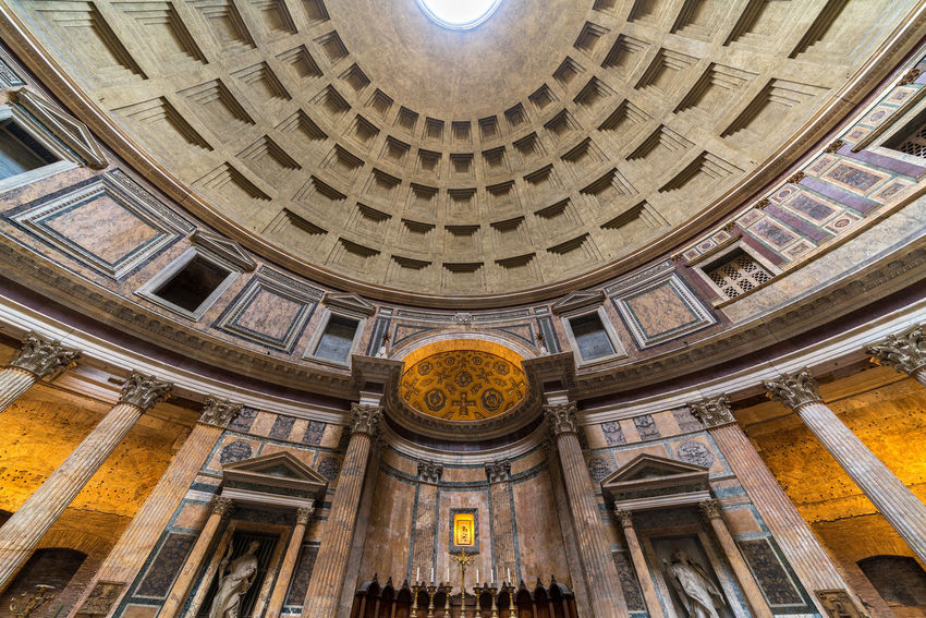 Inside the Pantheon, Rome, Italy Coliseum Colosseo Pantheon Roma St. Peter's Basilica Trevi Fountain Vatican Italy San Pietro Sant'angelo Tiber