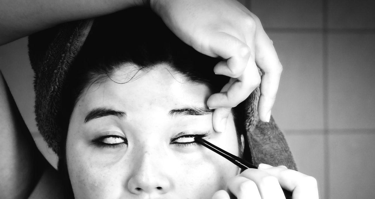 Dark Blackandwhite Makeup Asian