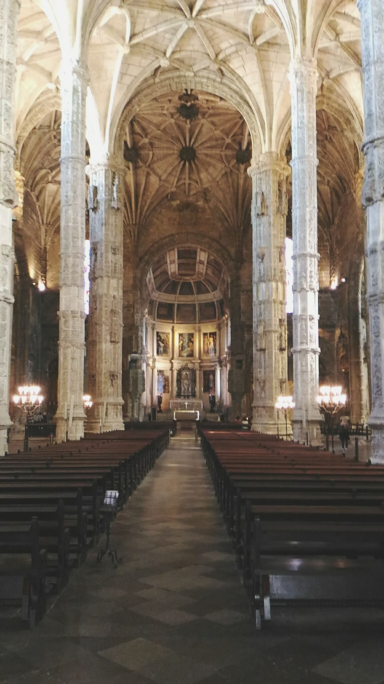 Architecture Indoors  Travel Destinations History Built Structure Arch Place Of Worship Day Pew No People Monastry Mosteiro Dos Jerónimos Lisbon Lisbon, Portugal Architecture People And Places Old Monastery Historical Building Historical Place