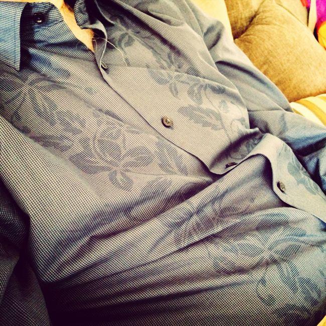 Hibiscus pattern Dress Shirt Shirt Iphone 5 Closeupshot