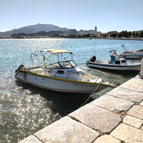 Nautical Vessel Pier Sea Landscape Harbor Vacations Relaxation Travel Destinations Tropical Climate Tourist Resort Zante Zakynthos Greek Islands Zakynthos, Greece Zakynthos Town Zante Town