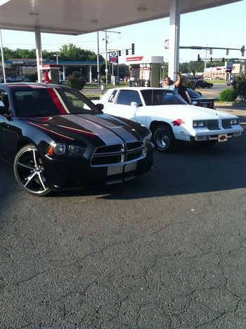 Took both whips to tha gas station that day just cause I was bored