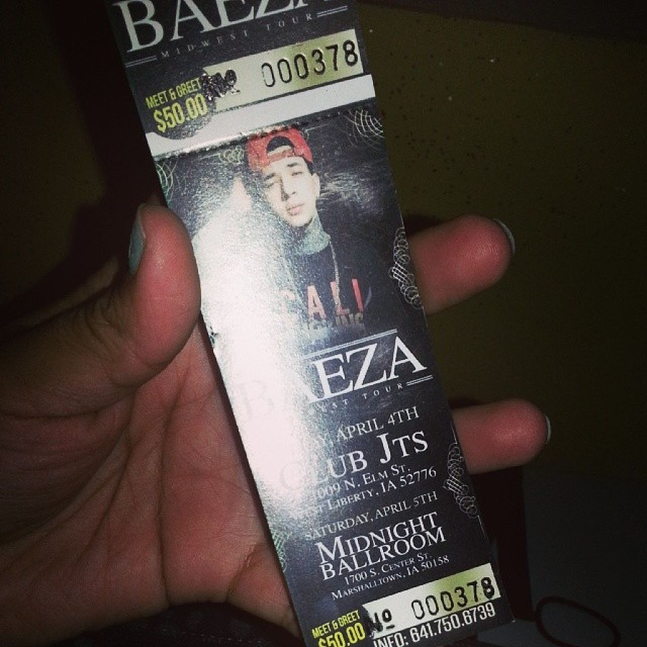 Pretty bomed to go!!! Excited Baeza Ticket April 5