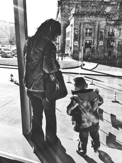 Black&white Shadows & Lights Mysweetcootie Watchingcars Whyareconesorange KidsSayTheDarndestThings Eye4photography  Kcmo Unionstation Streetphoto