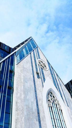 The Architect - 2017 EyeEm Awards University Leipzig Architecture Art Building University Church Blue Sky Blue Sky Window Leipzig Germany Augusteum Paulinum Universitätskirche  Augustusplatz Glas
