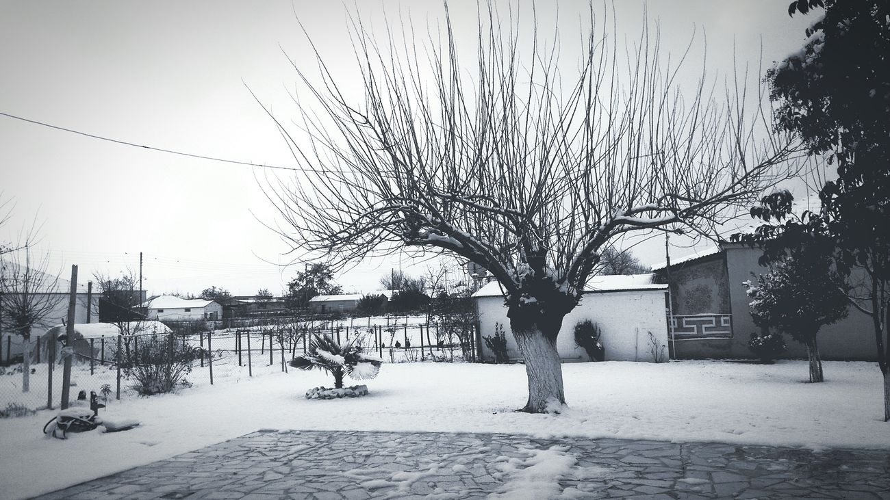 Karditsa  Greece Village Snow Winter Blackandwhite Bnw Blackandwhite Photography Bnw_captures Landscape