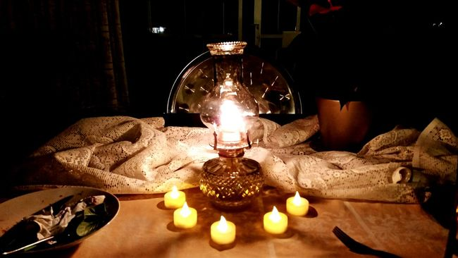 Dinner With Lamplight Dinner! Dinner Table