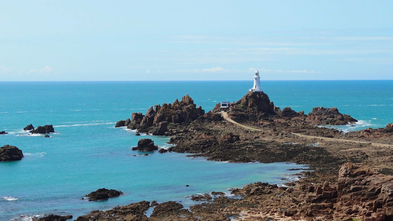 Corbière Lighthouse Beauty In Nature Blue Calm Cliff Coastline Day Horizon Over Water Idyllic Nature Non-urban Scene Ocean Outdoors Remote Rock Rock - Object Rock Formation Rocky Scenics Sea Seascape Shore Sky Tranquil Scene Tranquility Water